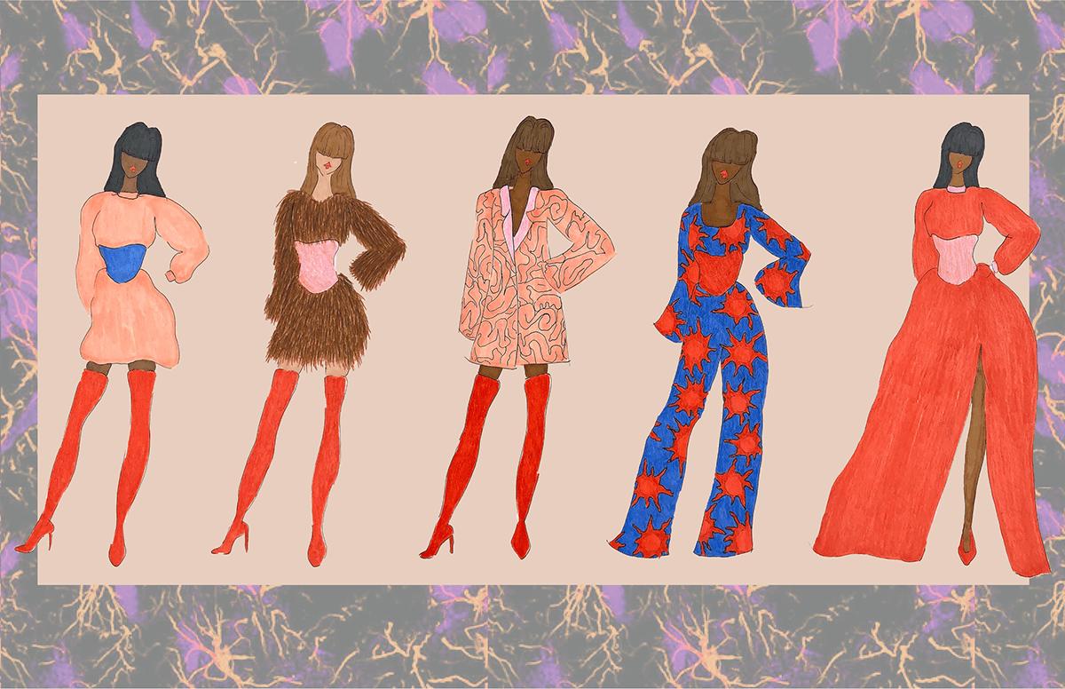 cancer Fashion  fashion design fashion illustration glioblastoma womens wear