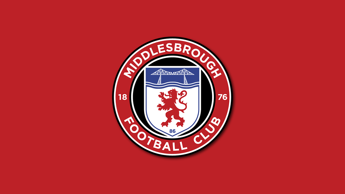 1fb06d6736f Middlesbrough FC - Crest Redesign Concept 2 on Pantone Canvas Gallery