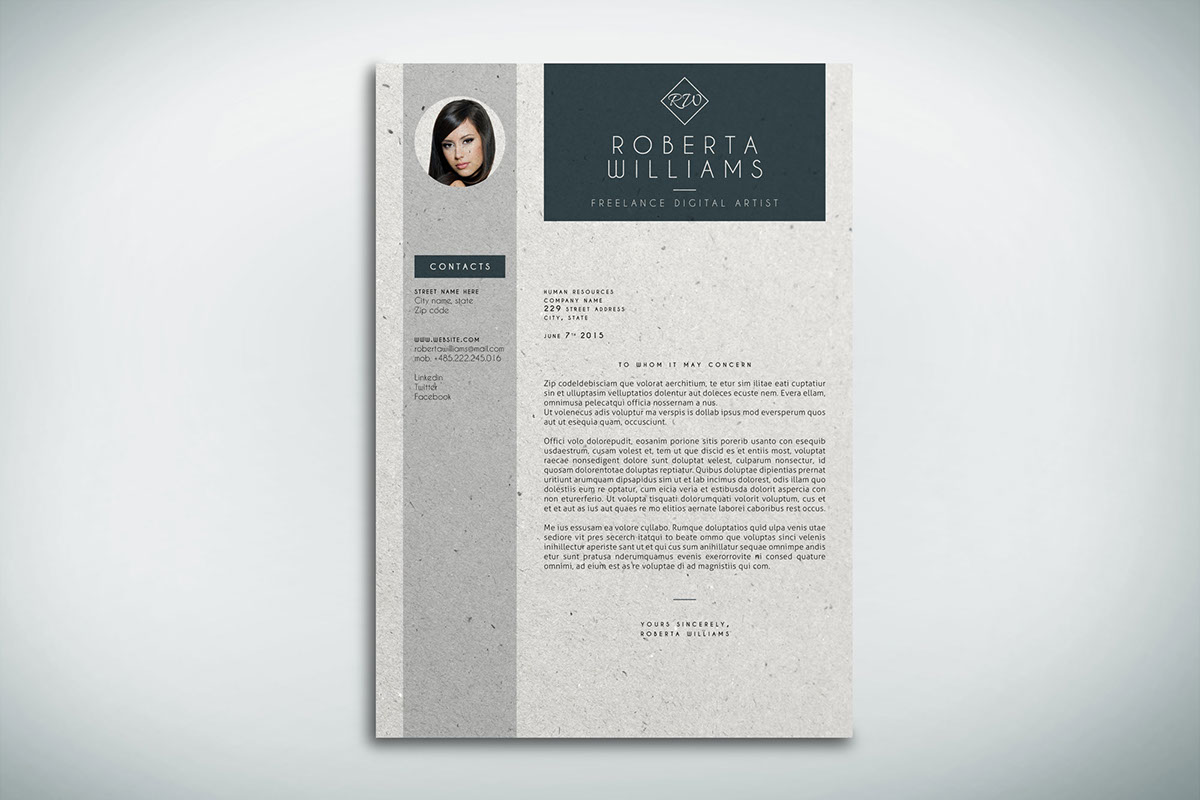 Resume CV + Cover Letter Indesign Template On Behance