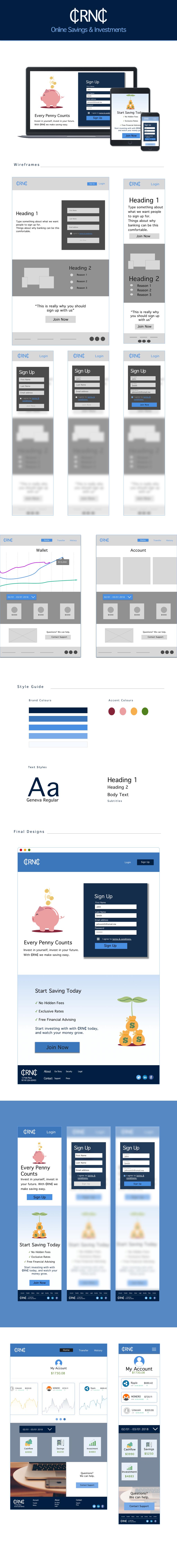 ux UI Web Design  Mobilebanking wireframes branding
