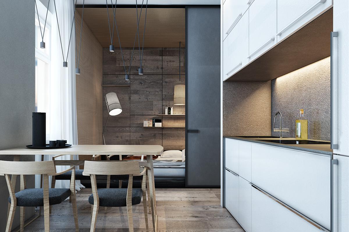 design micro LOFT Interior designl flat
