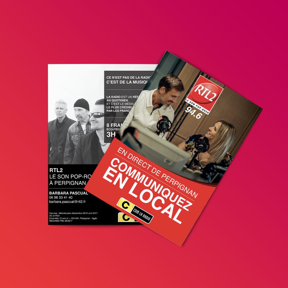brochure communication design direction artistique edition group institutionnel Radio rtl