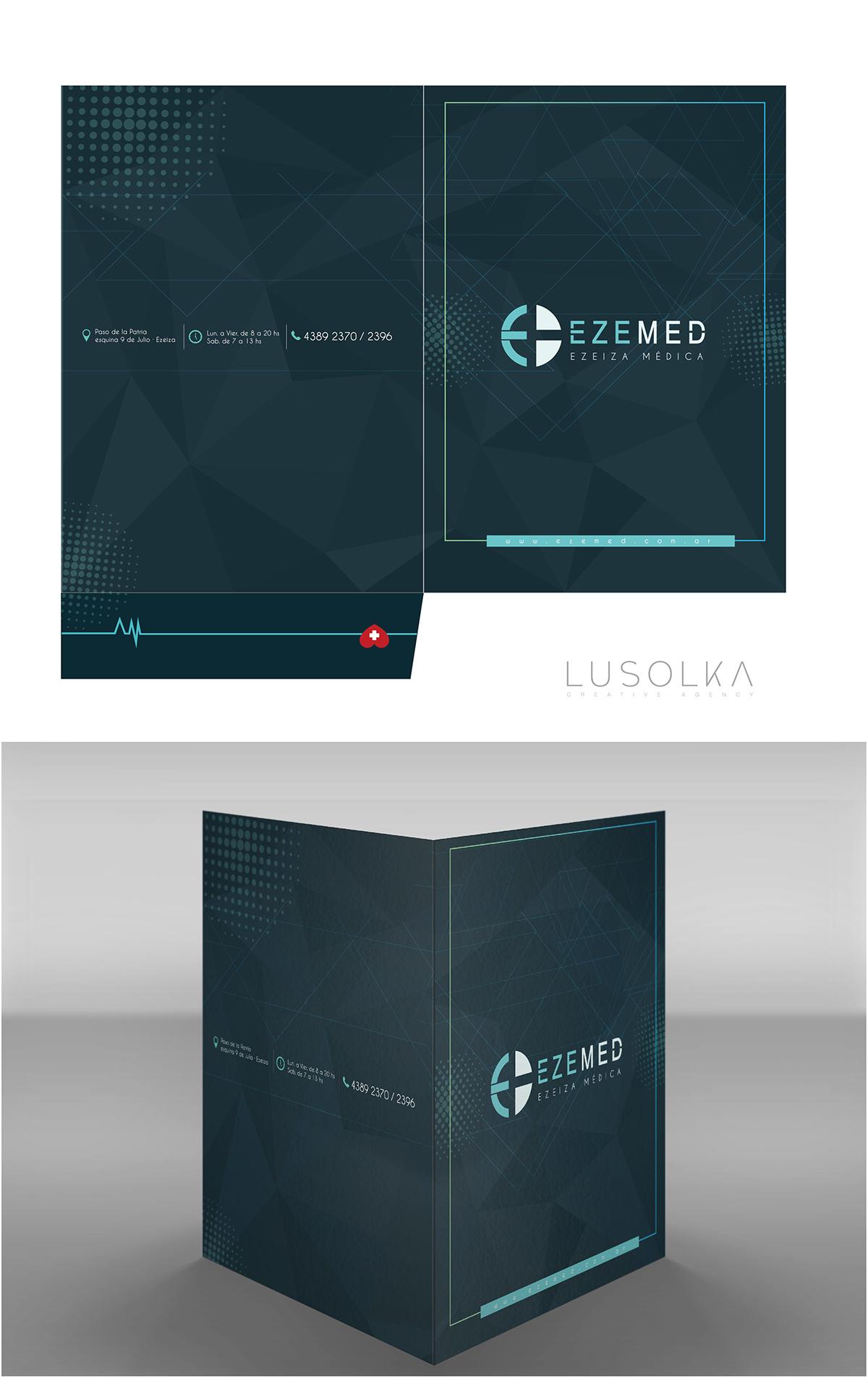 diseño gráfico Diseño web diseño de marca isologotipo Carpeta flyer medicina Ezemed vinilos vidriera arquigrafía