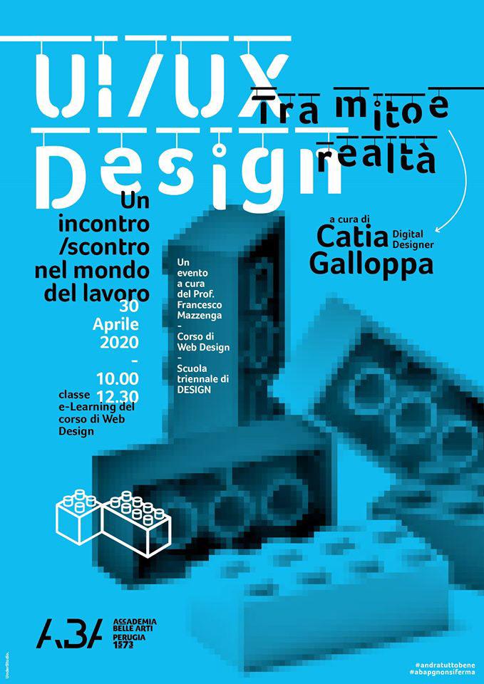 accademia di belle,arti,Catia Galloppa,digital designer,perugia,ui ux,Videoconferenza