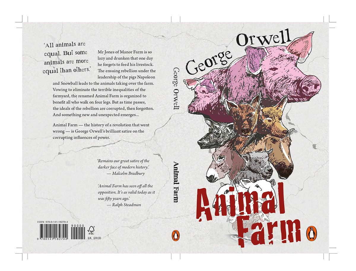 Animal Farm Book Cover On Behance
