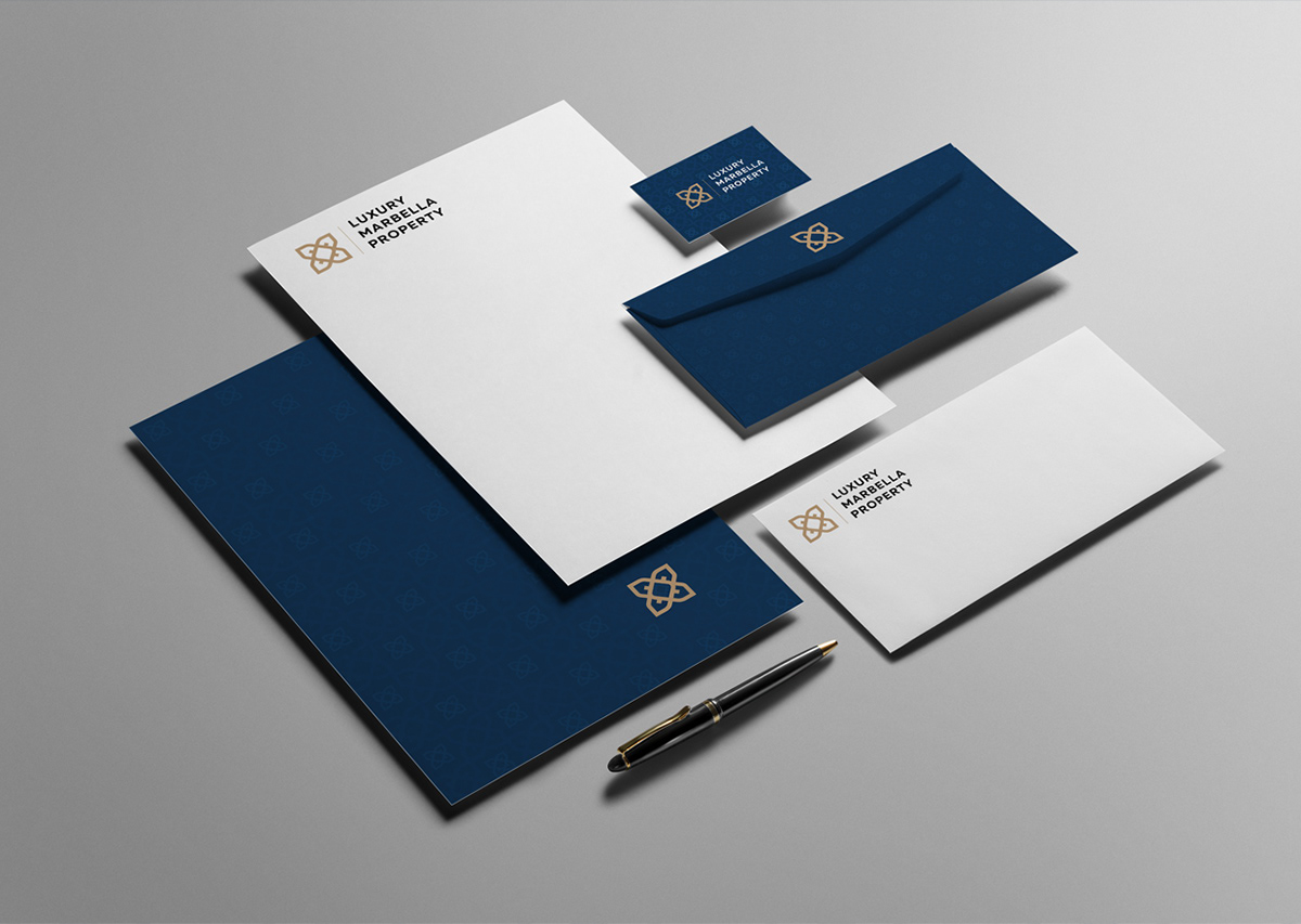 logo branding  stationary real estate luxury property