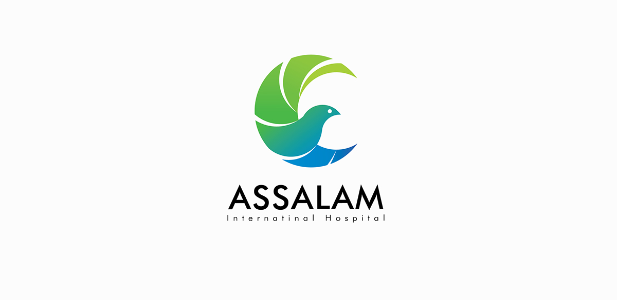 assalam international hospital logo on behance