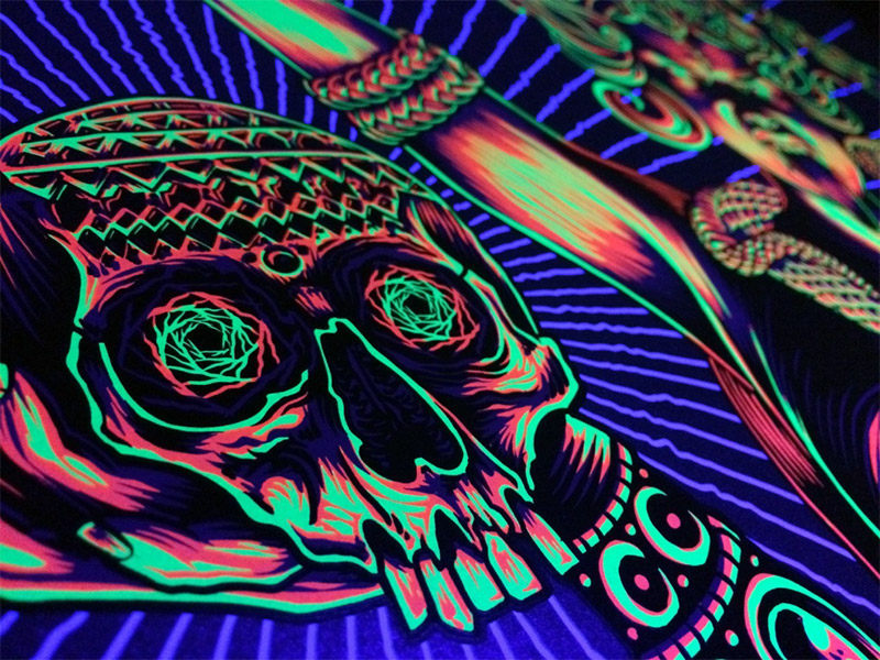Blacklight poster board