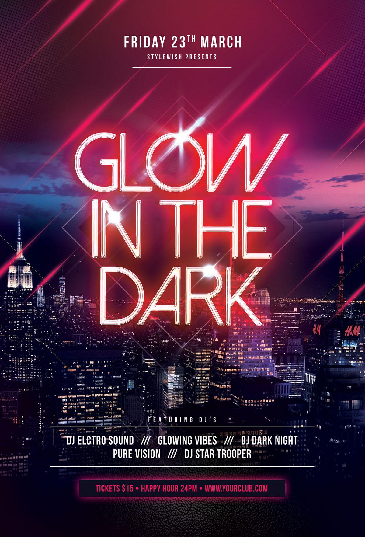 Glow In The Dark Poster Designs On Behance