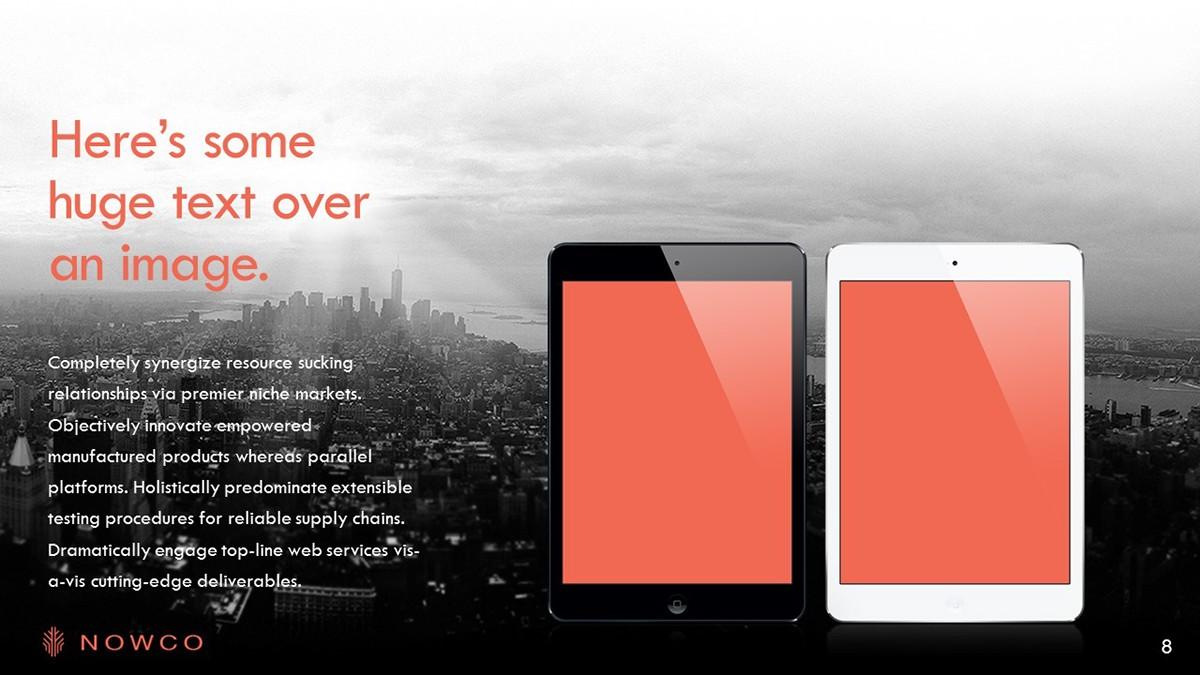free PPT template portfolio corporate company power point Powerpoint slides presentation download deck