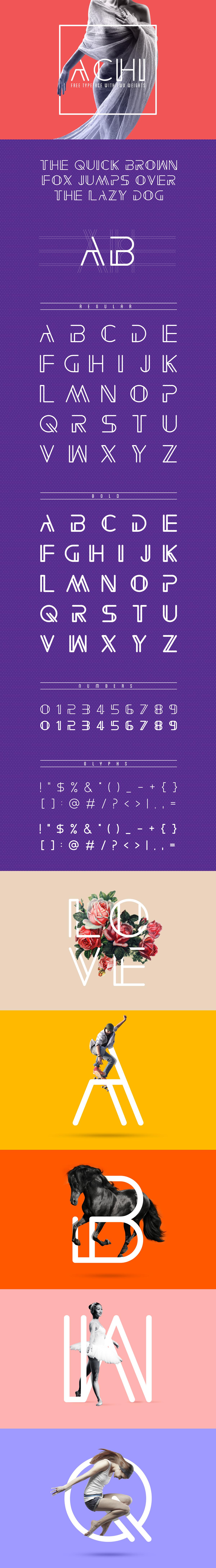 Free font font Typeface free new achi modern type elegant Unique freefont line bold regular font family
