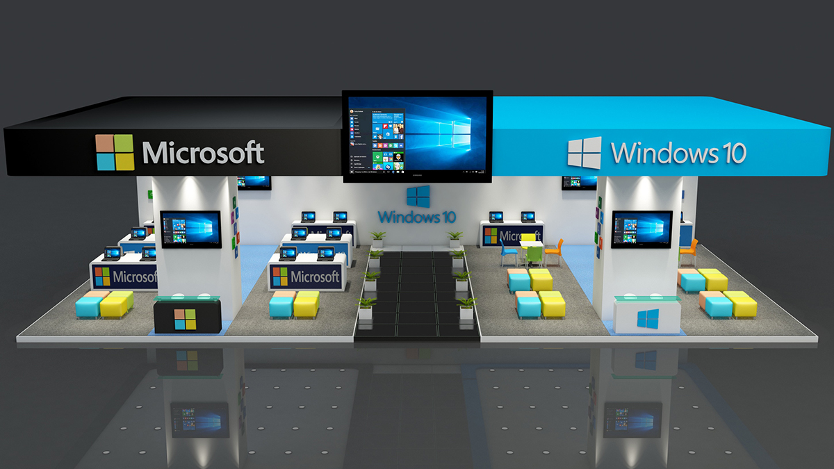 Exhibition Stand 3d Max Download : Microsoft exhibition stand made in d max vray on