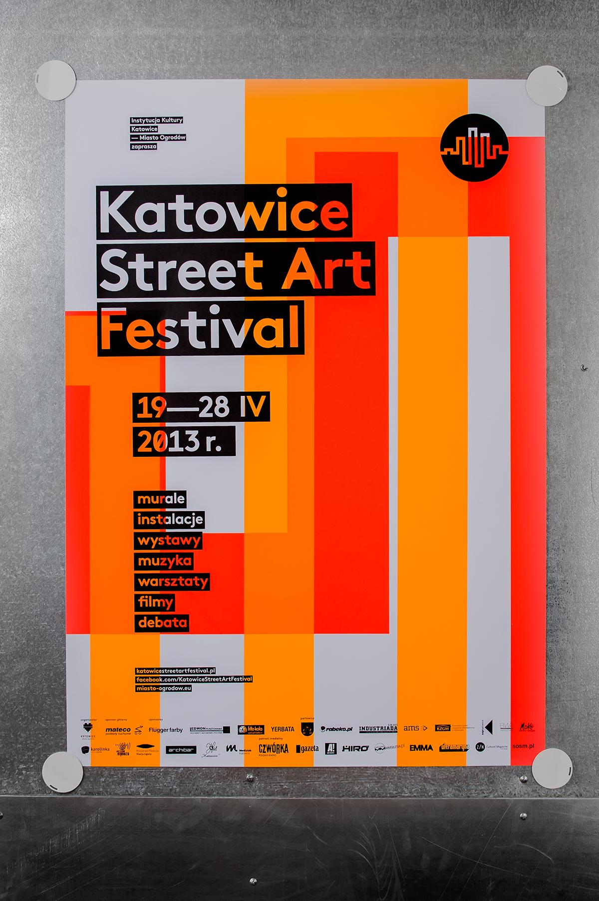 Katowice Street Art Festival – silkscreen poster series on ...