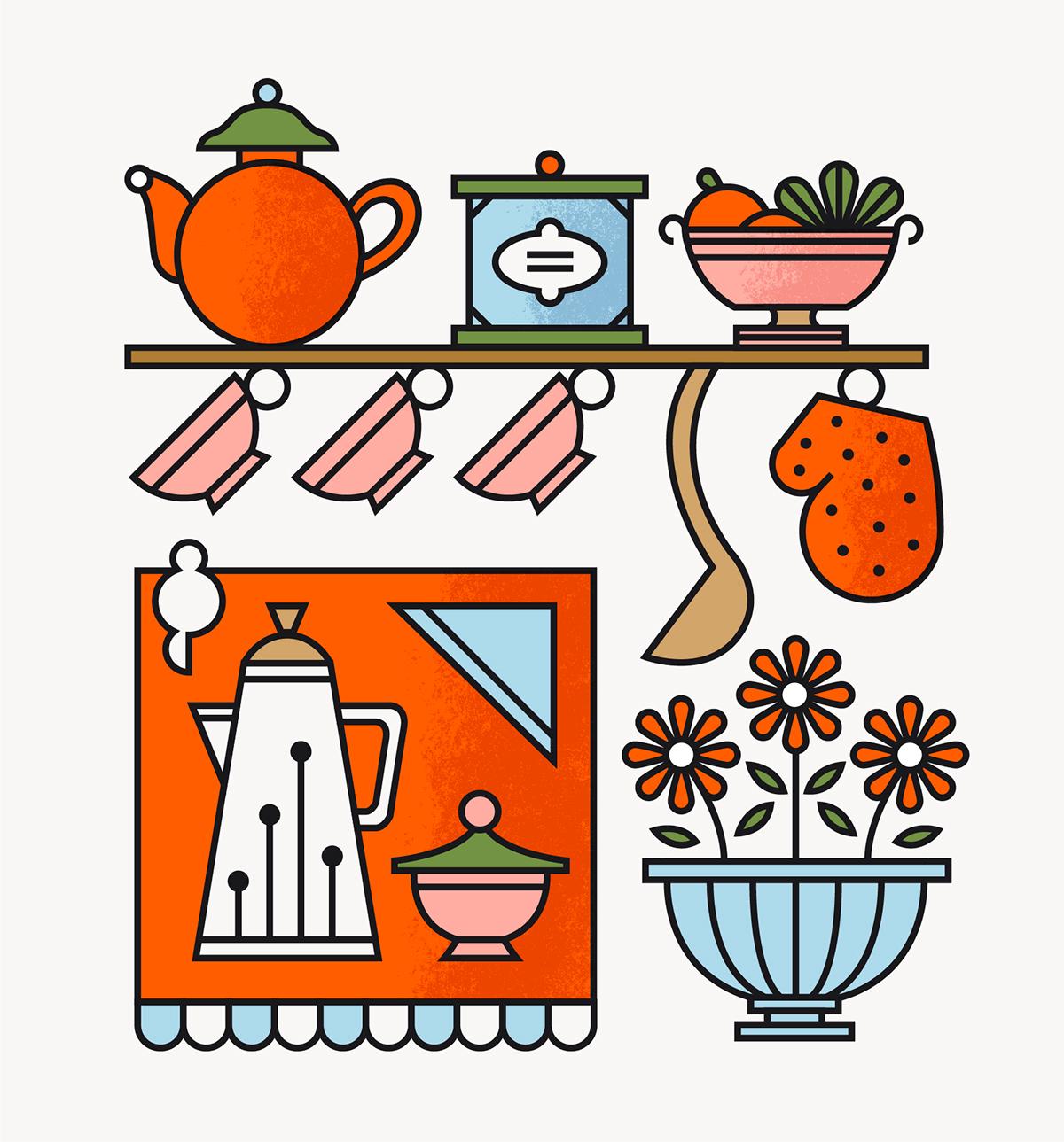 Illustrations ii on behance for Cocinas johnson uruguay