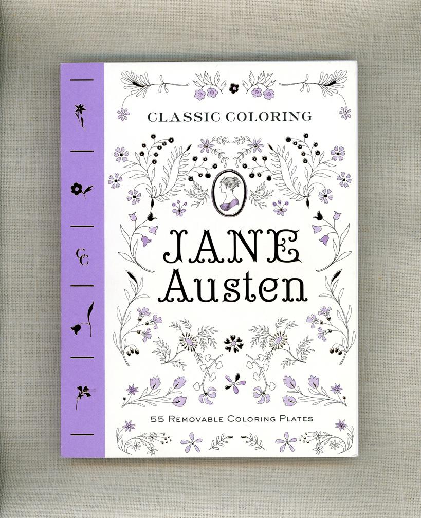 Jane Austen Coloring Book On Behance