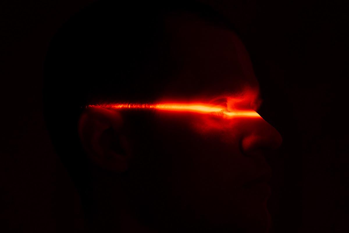 laser darkness red night men light shadow burn acid psychedelic