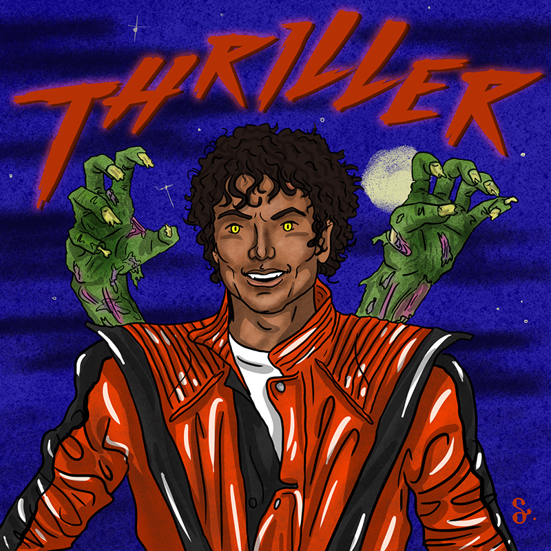 Michael Jackson thriller zombie ILLUSTRATION  illustrasyon Illustrator