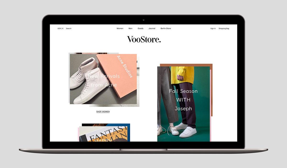 9a589207b370 VooStore Berlin - Web Design on Behance