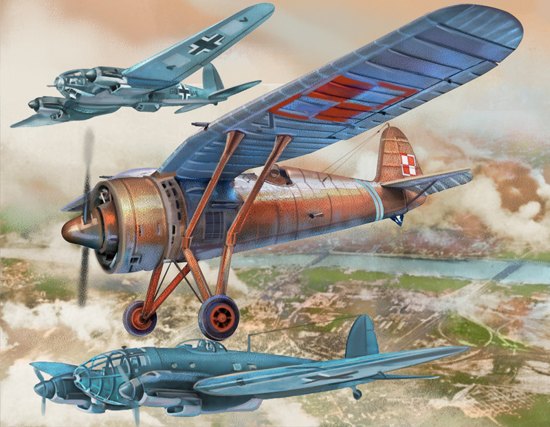 battle Digital Art  history ILLUSTRATION  Military plane War World war 2 ww2