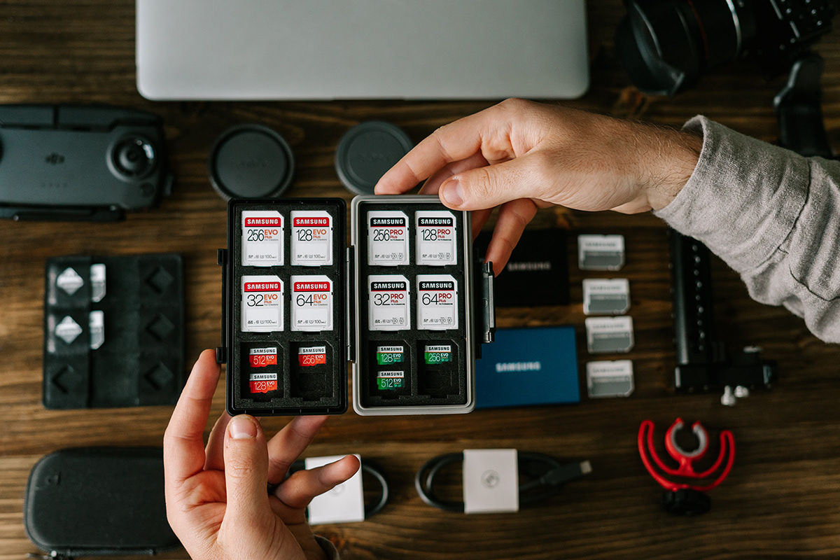 lifestyle photography Photography  Product Photography Samsung samsung memory SD cards