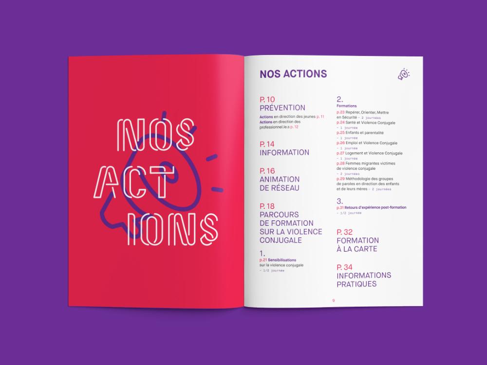 brochure book custom type women violence Association