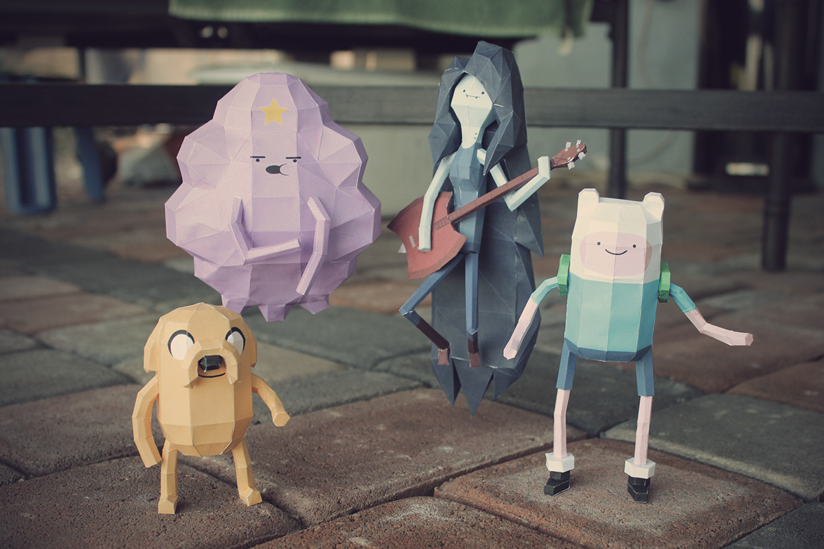 Adventure Time Papercrafts On Behance