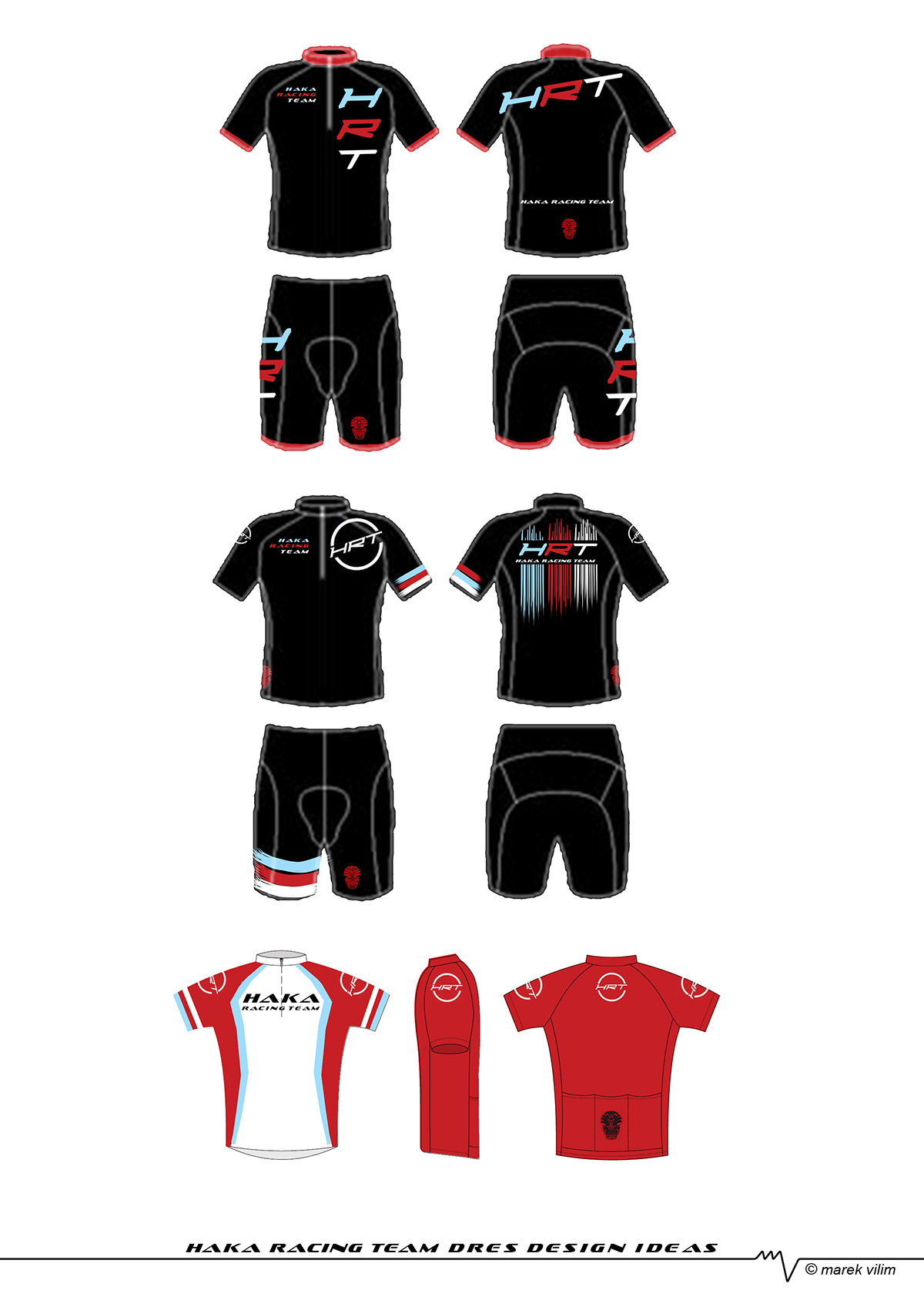 Cycling Jersey Design Variants For Haka Racing Team On Behance