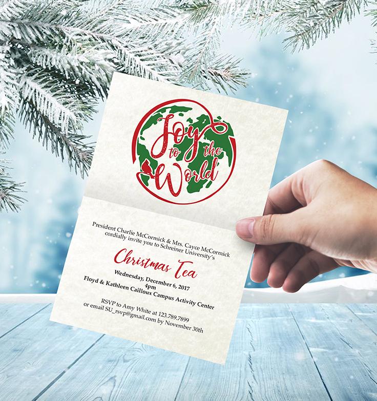 christmas tea invitation on behance