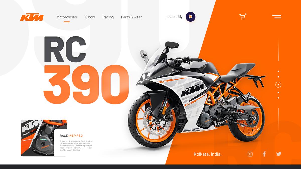 bikes design designer KTM Logo Design Superbikes ui design UX design Web Design  web development