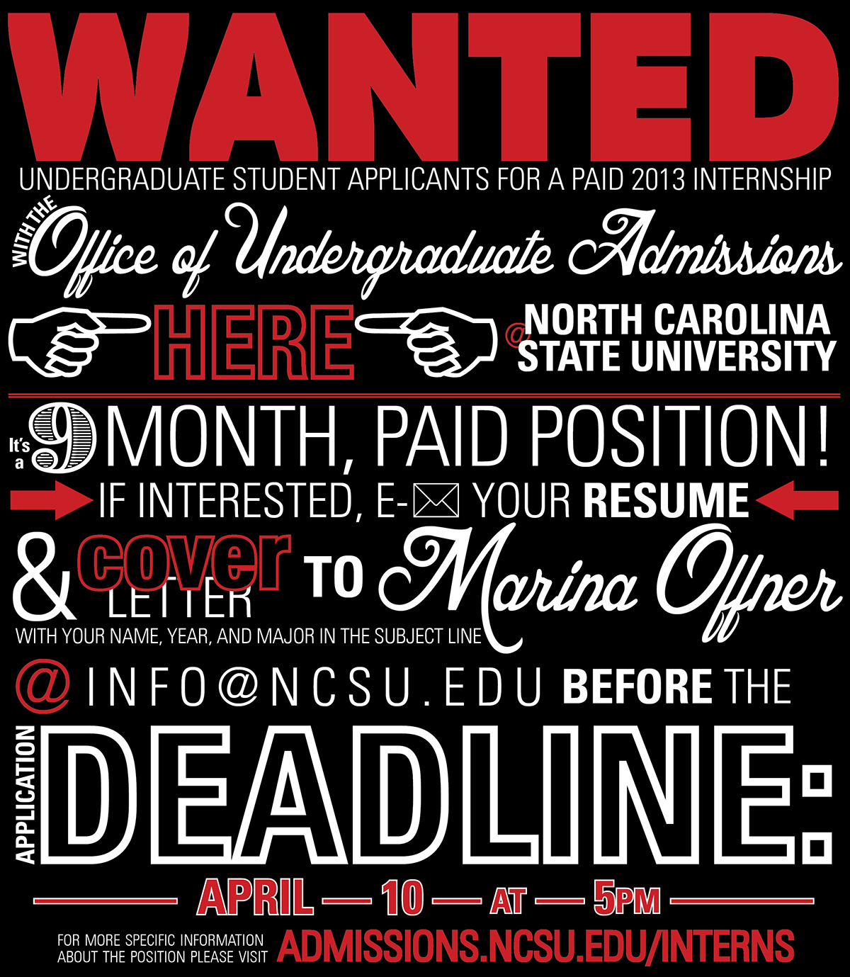 typography infographic nc state university on behance