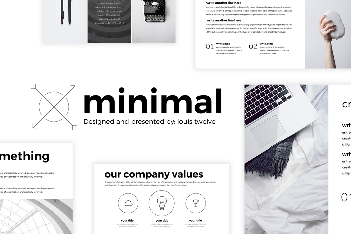 Free minimal powerpoint template on behance toneelgroepblik Images