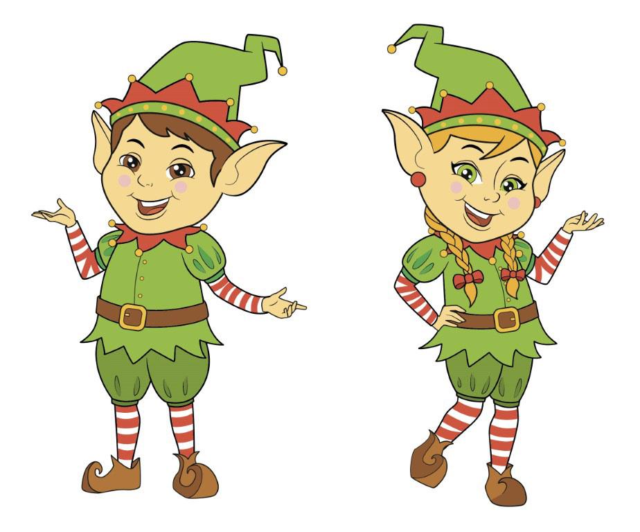 natal duende parada personagens Presentes Menino e Menina alvin e sisi Curitiba elfo natalino