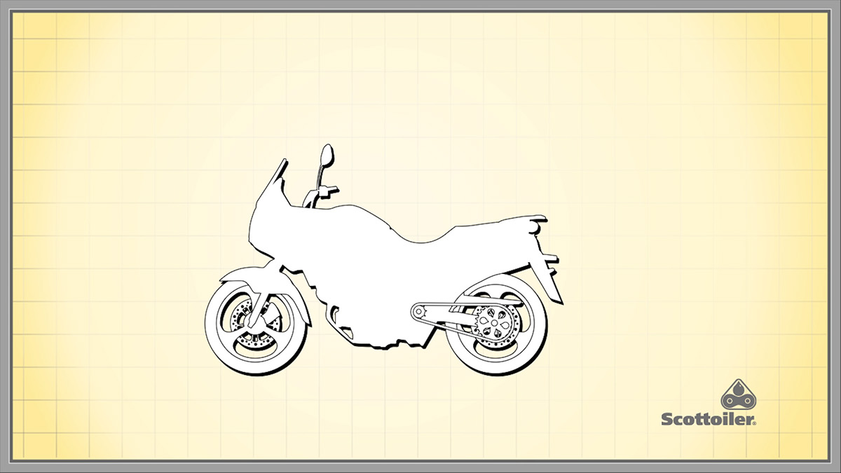 motorcycle motorbike explainer advert vector chain technical illustration Lubrication chain spray expressions