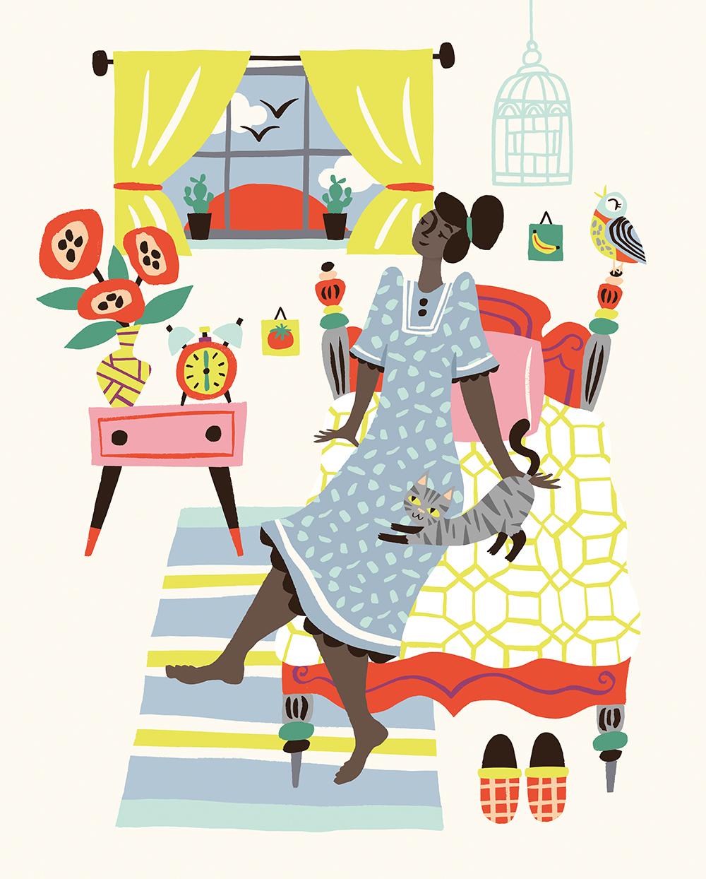 Flow Magazine tropical illustration women cute Tropical artist magazine creative pink girls