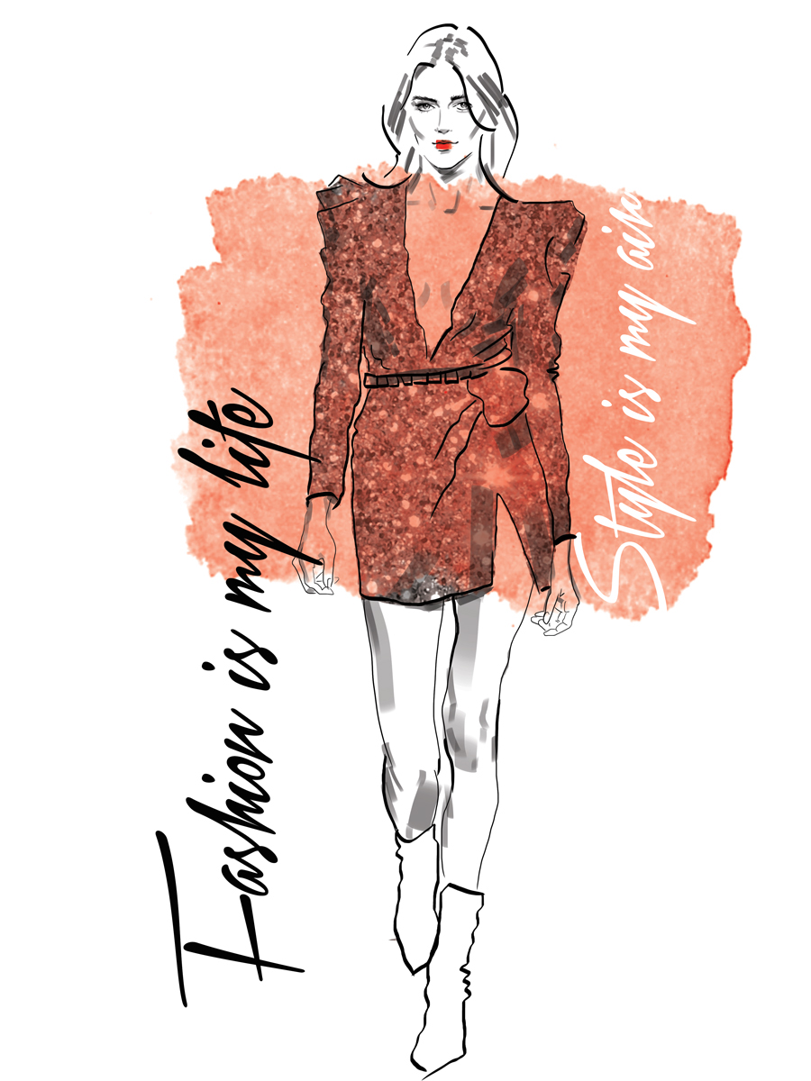 Digital fashion illustration with photoshop and illustrator 63