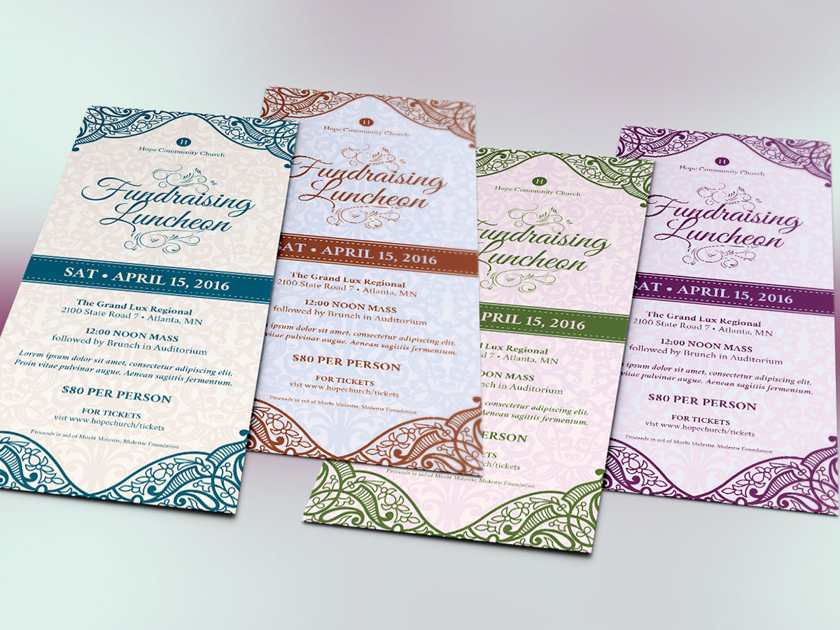 Fundraising Luncheon Flyer Template on Behance – Luncheon Flyer Template