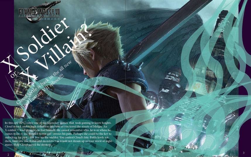 Game Informer Magazine Final Fantasy Vii Reboot On Behance