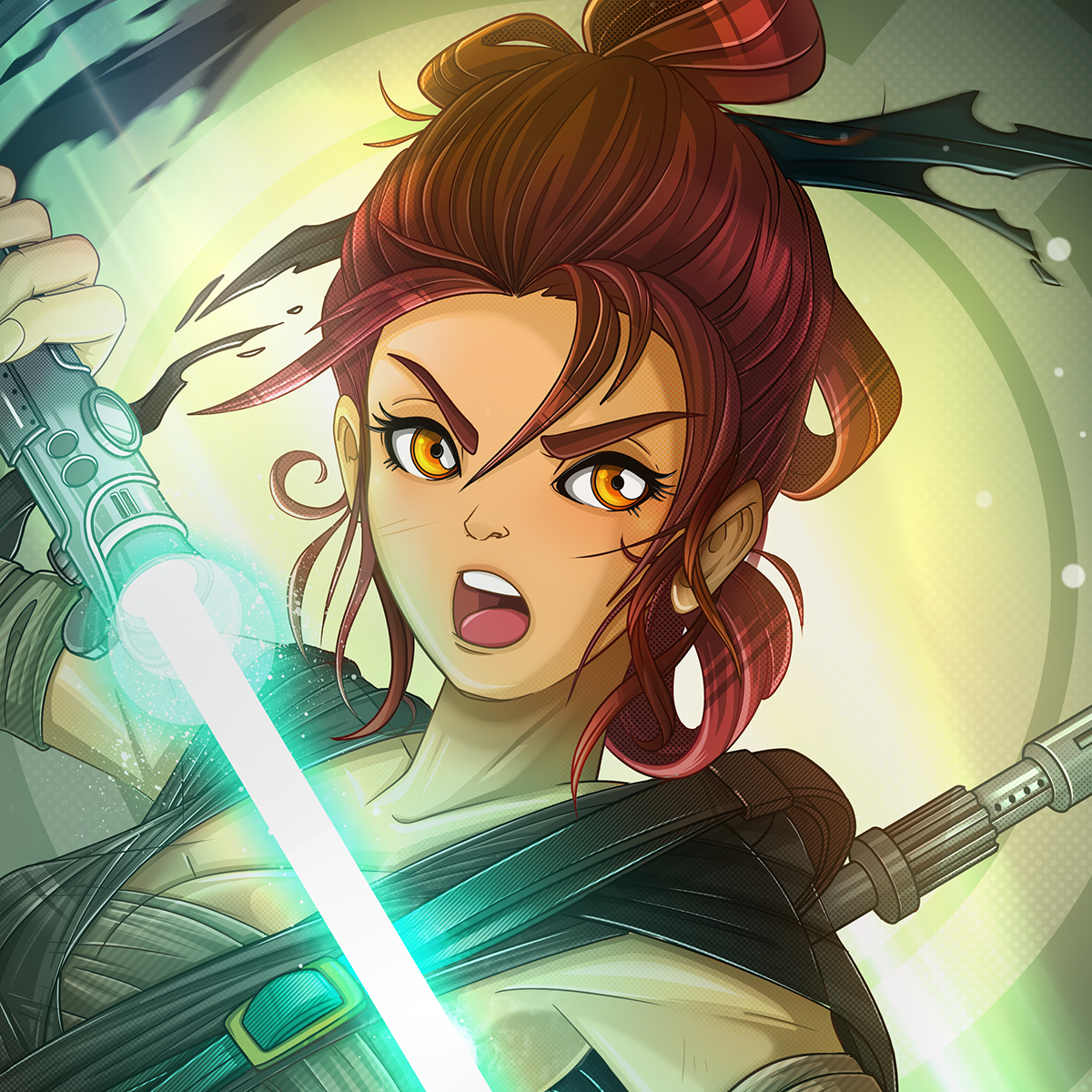 Rey light and dark side of the force on behance - Steamgirl download ...