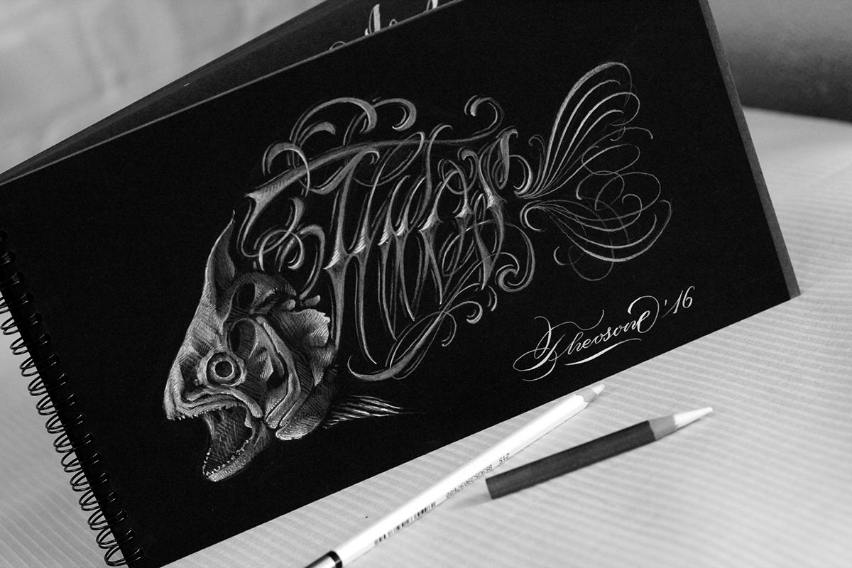 Custom Lettering,lettering,Handlettering,tattoo design