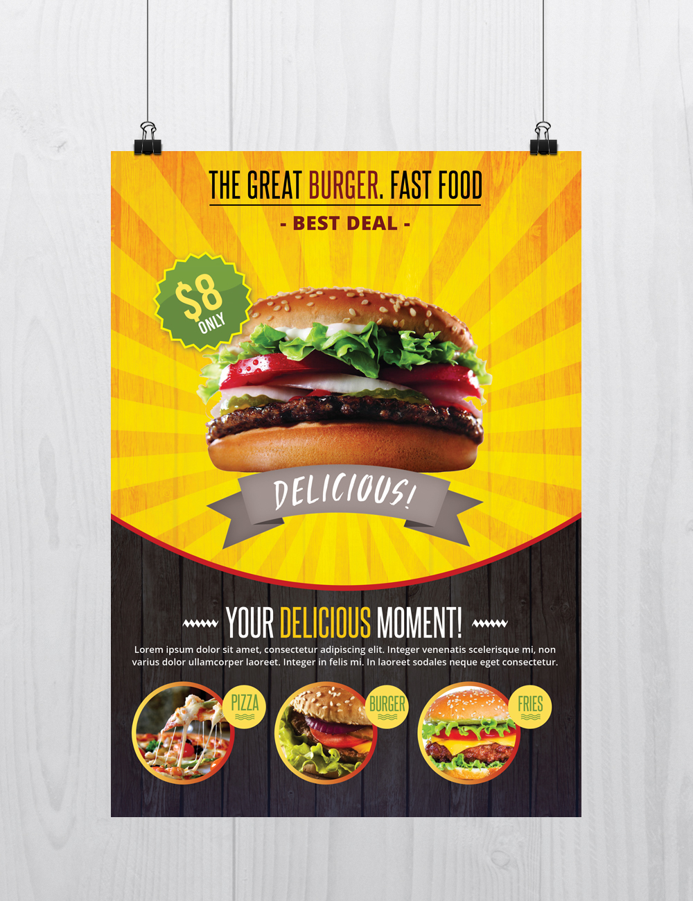 fast food free psd flyer template on behance