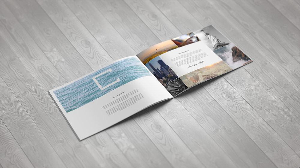 A4 Landscape Brochure Mock-Up On Behance