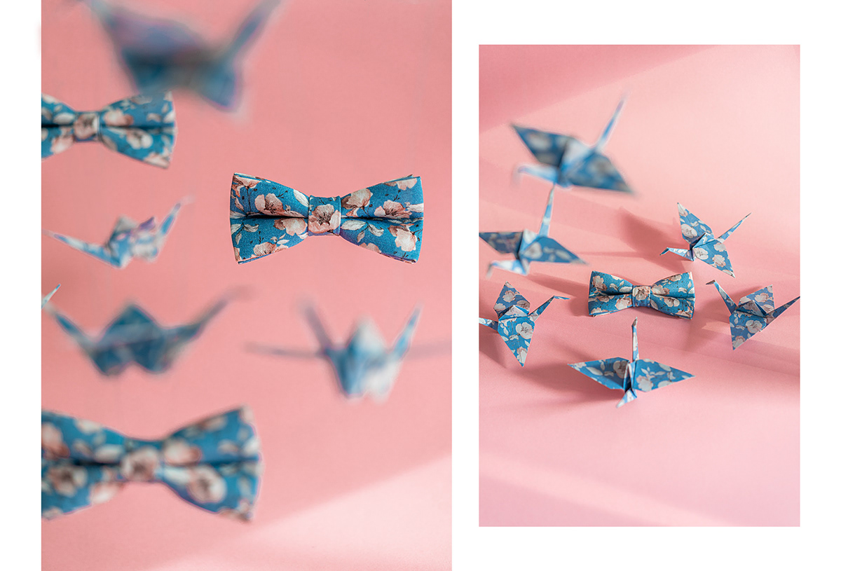 Set design, photoshooting for MUCHAMA with origami