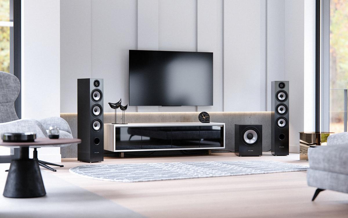 3D 3dsmax audiophile CGI corona FIEND loudspeakers product viz
