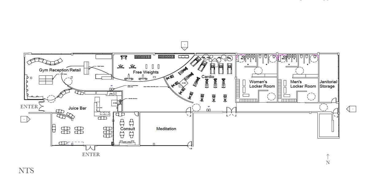 juice bar floor plan