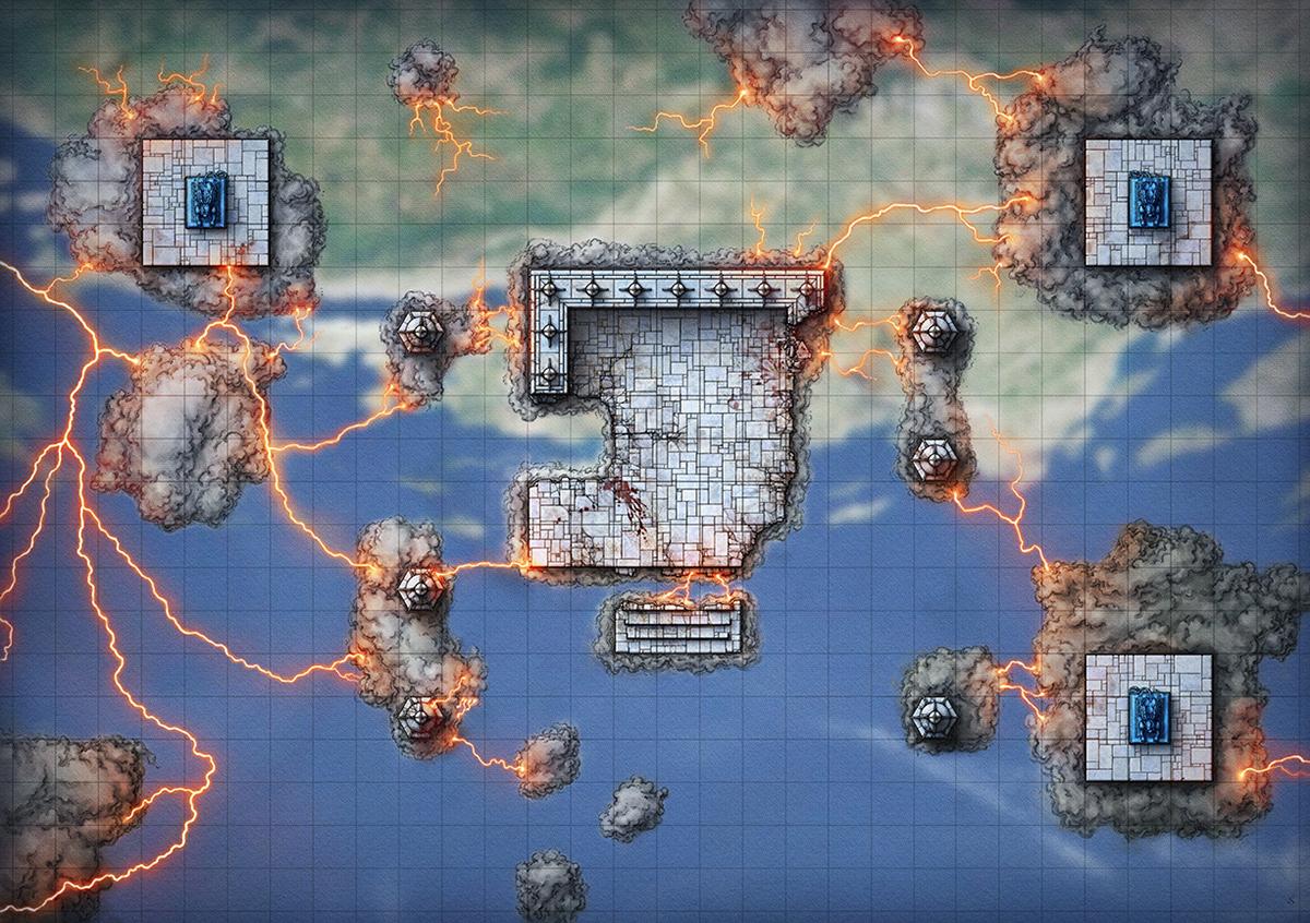 D&D Sky Temple Map