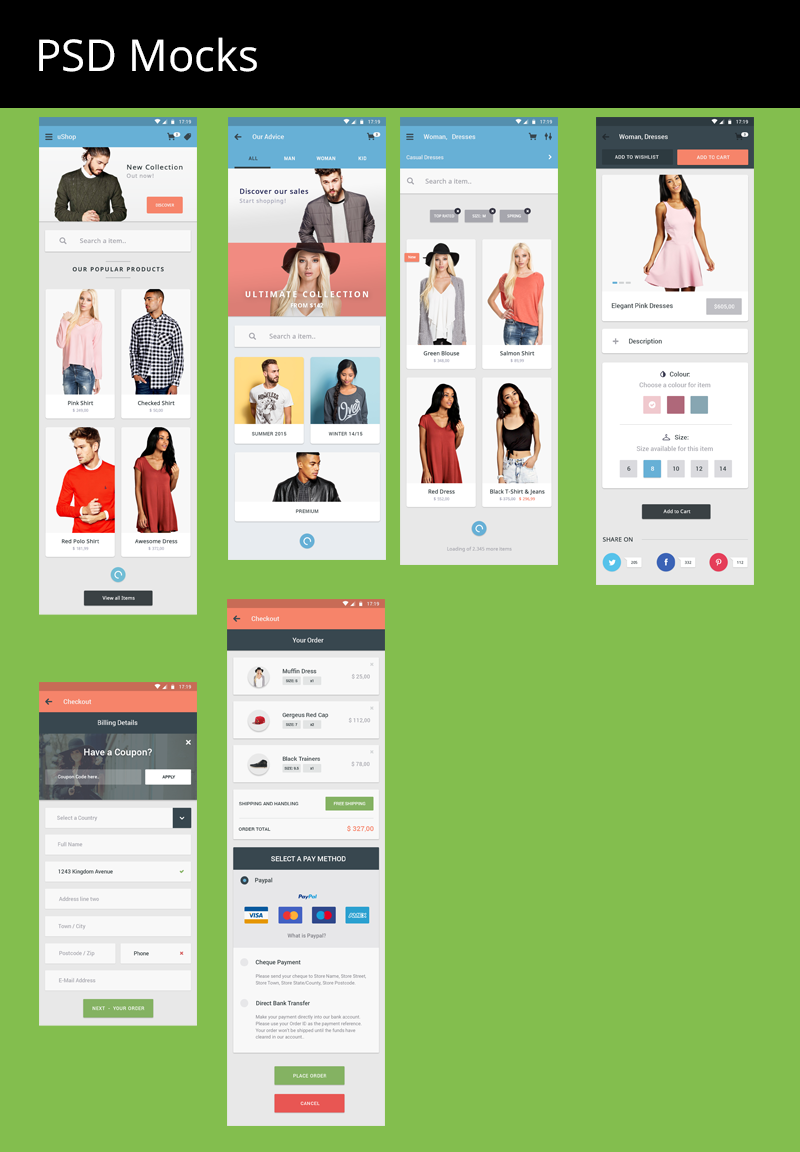 Ecommerce App For Android User Interface Design On Behance