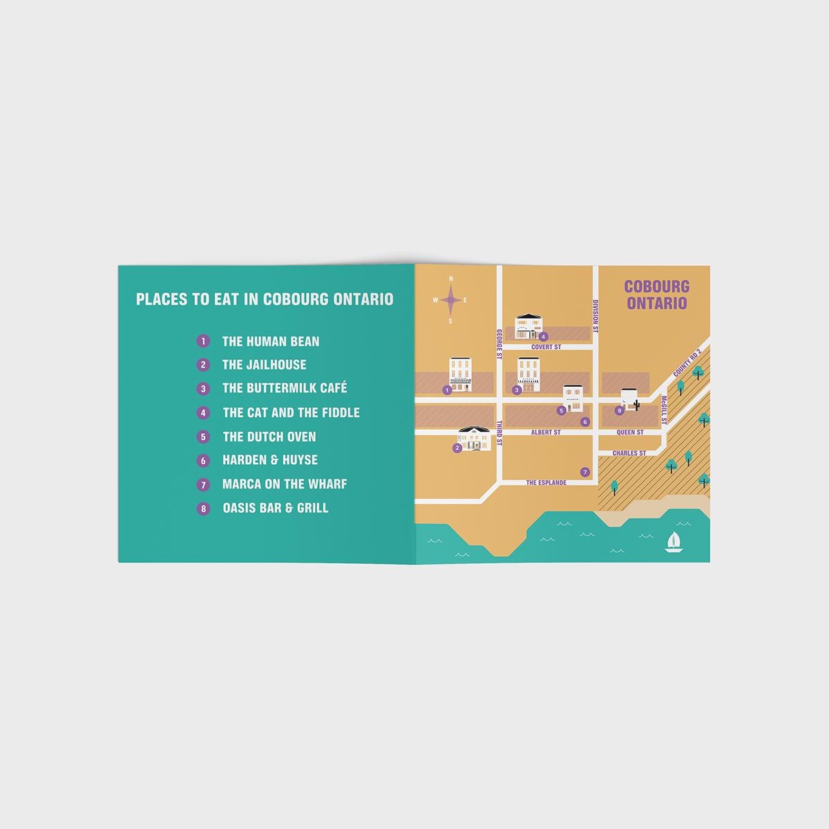 map city Food  ILLUSTRATION  Illustrator photoshop infograph