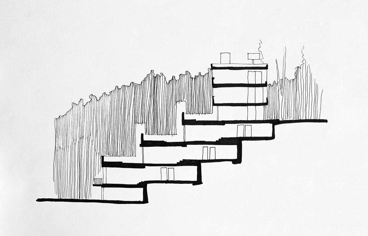 Arquitectura Moderna Edificio Las Terrazas On Los Andes