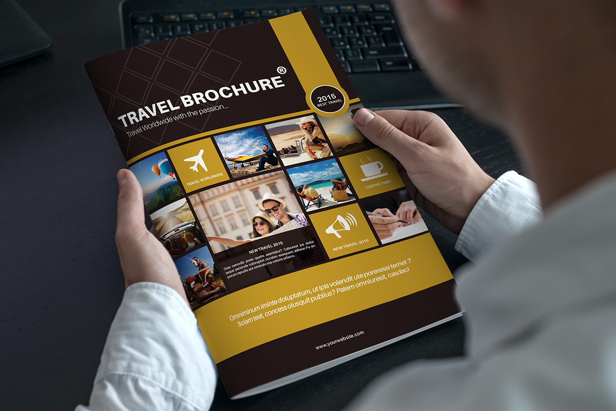 Travel Brochure Template A4 Bi Fold On Behance