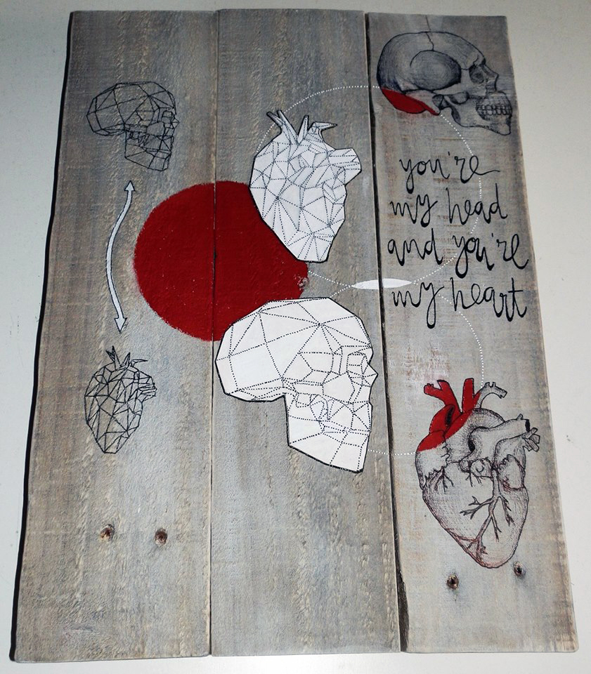 origami  wood madera reciclaje RECYCLED art Pallet deco